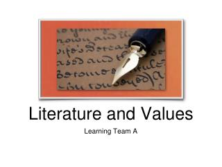 Literature and Values