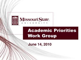 Academic Priorities Work Group