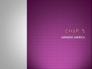 CHAP. 5