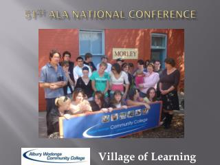 51 st  ALA National Conference