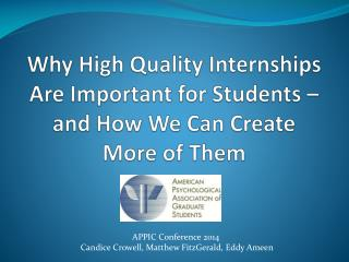 Why High Quality Internships Are Important for Students – and How We Can Create More of Them