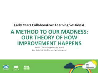A Method to our madness: Our theory of how improvement happens Ninon Lewis and David Williams