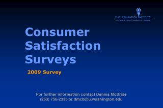 Consumer Satisfaction Surveys