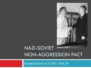 Nazi-soviet  non-aggression pact