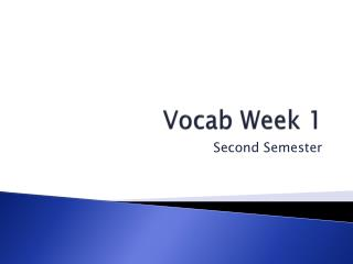 Vocab Week 1