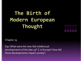 The Birth of Modern European Thought