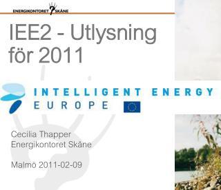 IEE2 - Utlysning för 2011
