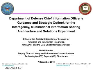 Department of Defense Chief Information Officer's