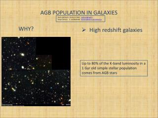 AGB POPULATION IN GALAXIES
