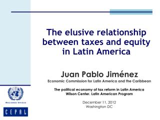 The elusive relationship between taxes and equity in Latin America