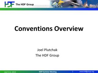 Conventions Overview