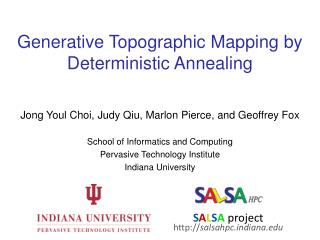 Generative Topographic Mapping by Deterministic Annealing