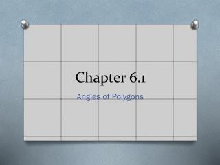 Chapter 6.1