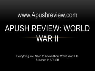 APUSH Review: World War II