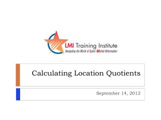 Calculating Location Quotients