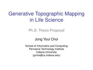 Generative Topographic Mapping  in Life Science