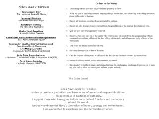 The Cadet Creed  I am a Navy Junior ROTC Cadet.