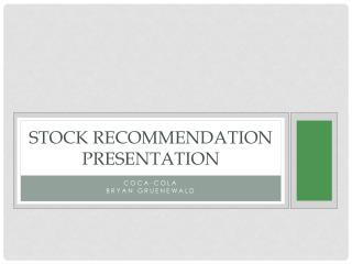 Stock Recommendation Presentation