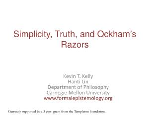 Simplicity, Truth, and Ockham's Razors