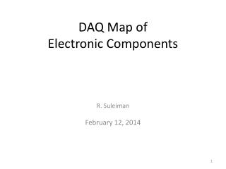 DAQ Map of Electronic Components