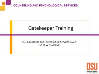 Gatekeeper Training