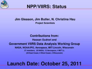 NPP/VIIRS: Status