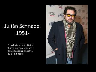 Julián  Schnadel 1951-