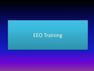 EEO  Training