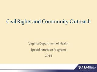 Civil Rights and Community Outreach