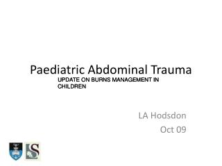 Paediatric Abdominal Trauma