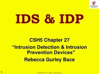 IDS & IDP