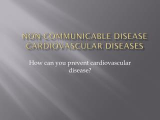 Non-communicable Disease Cardiovascular Diseases