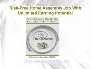 Become a Home Based Assembler With a Legitimate Home Assembl