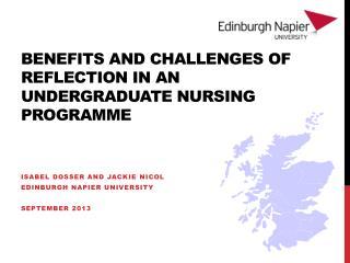 Benefits and Challenges of Reflection in an Undergraduate Nursing Programme