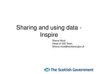 Sharing and using data - Inspire