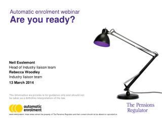 Automatic enrolment webinar   Are you ready?