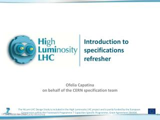 Introduction to specifications refresher