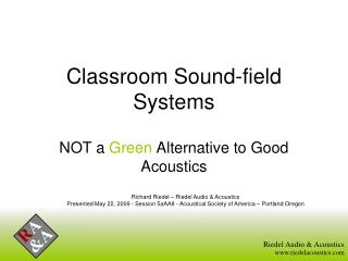 Classroom Sound-field Systems