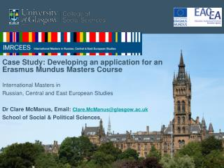Case Study: Developing an application for an Erasmus Mundus Masters Course