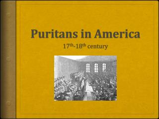 Puritans in America