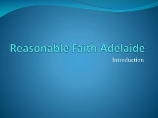 Reasonable Faith Adelaide