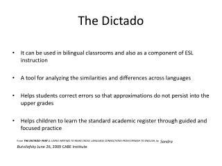 The  Dictado