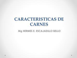 CARACTERISTICAS  DE CARNES