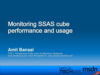 Monitoring SSAS cube performance and usage