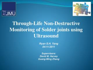 Through-Life Non-Destructive Monitoring of Solder joints using Ultrasound