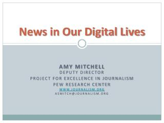 News in Our Digital Lives