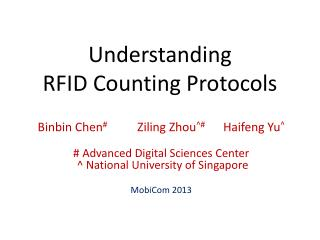 Understanding  RFID Counting Protocols