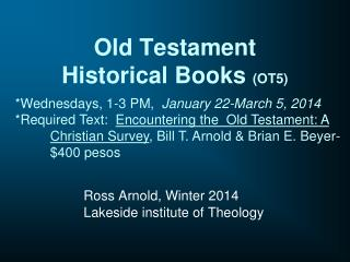 Old Testament  Historical Books  (OT5)