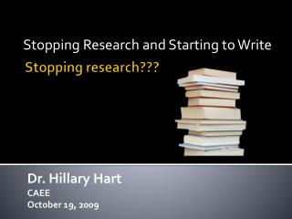 Stopping research???