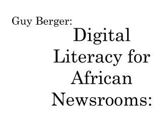 Guy Berger: